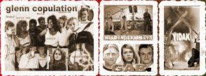 Bildercollage aus Bildern von Glenn Copulation, Helden der Arbeit, GAB, Yidak
